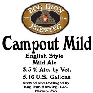 Bog Iron Brewing Campout Mild May 2013
