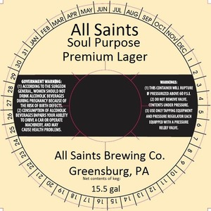 All Saints Brewing Co. May 2013