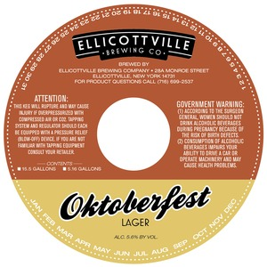 Ellicottville Brewing Company Oktoberfest May 2013