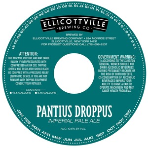 Ellicottville Brewing Company Pantius Droppus May 2013