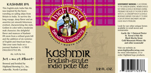 Highland Brewing Co Kashmir May 2013