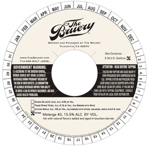 The Bruery Melange #3 May 2013