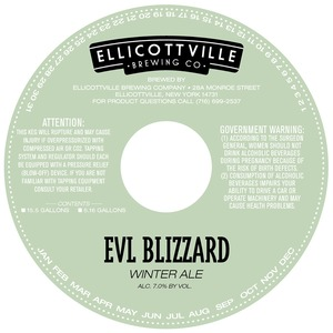 Ellicottville Brewing Company Evl Blizzard Winter Ale May 2013