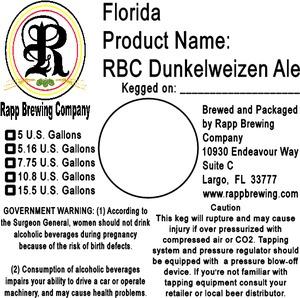 Rapp Brewing Company Rbc Dunkelweizen