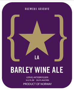 Lervig Aktiebryggeri Barley Wine Ale May 2013