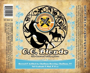 Chatham Brewing, LLC. O.c. Blonde June 2013