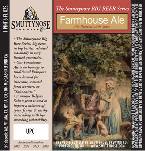 Smuttynose Brewing Co. Farmhouse Ale