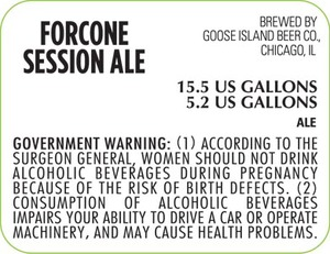 Goose Isand Beer Co. Forcone Session Ale May 2013