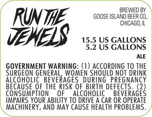 Goose Island Beer Co. Run The Jewels May 2013
