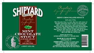 Shipyard Mint Chocolate Stout June 2013