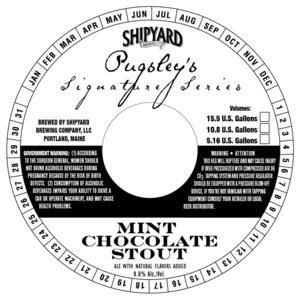 Shipyard Mint Chocolate Stout May 2013