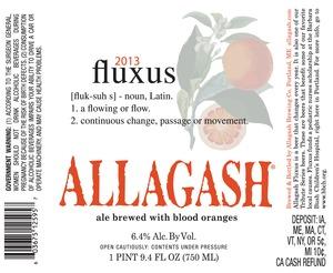 Allagash Brewing Company Fluxus May 2013