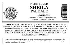 Highland Brewing Co Sheila Pale