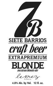 Siete Barrios Mexican Blonde
