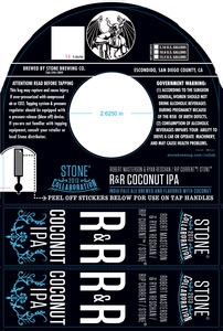 Stone Brewing Co R&r Coconut IPA June 2013