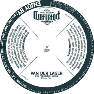 Portland Brewing Van De Lager June 2013