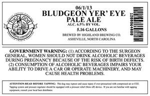 Highland Brewing Co Bludgeon Yer' Eye Pale June 2013