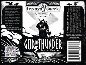 Tenaya Creek Brewery God Of Thunder Baltic Porter