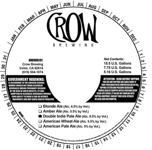 Crow Brewing Double India Pale June 2013