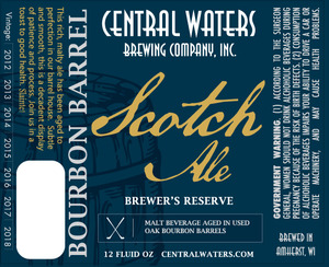 Central Waters Brewing Company Bourbon Barrel Scotch Ale
