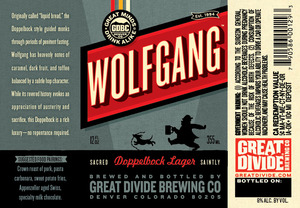Great Divide Brewing Company Wolfgang June 2013