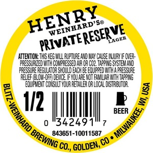 Henry Weinhard's Private Reserve June 2013