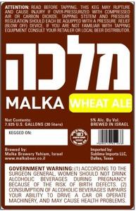 Malka Wheat Ale June 2013