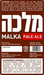 Malka Pale Ale June 2013