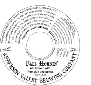 Anderson Valley Brewing Company Fall Hornin'