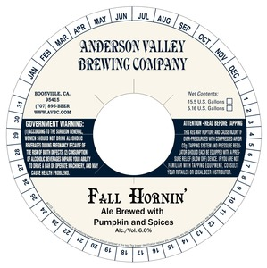 Anderson Valley Brewing Company Fall Hornin' June 2013