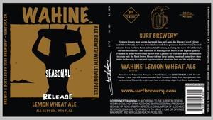 Wahine Lemon Wheat Ale June 2013