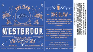 Westbrook Brewing Company One Claw June 2013