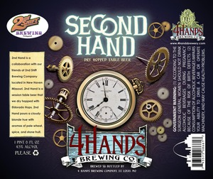 4 Hands Brewing Company 2nd Hand