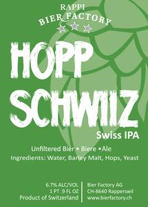 Rappi Bier Factory Hopp Schwiizz
