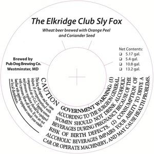 Pub Dog Brewing Co. The Elkridge Club Sly Fox White Ale