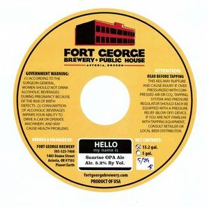 Fort George Brewery Sunrise Opa