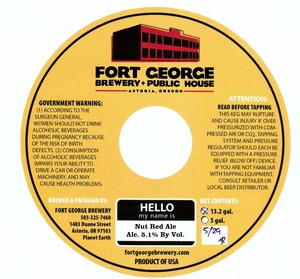 Fort George Brewery Nut Red