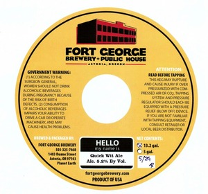Fort George Brewery Quick Wit