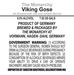 The Monarchy Viking Gose