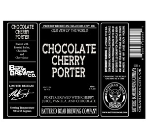 Battered Boar Brewing Company Chocolate Cherry Porter
