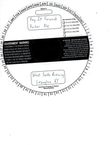 West Sixth Brewing Pay It Forward Porter Ale