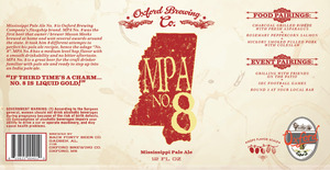 Oxford Brewing Co. Mpa No. 8