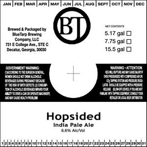 Bluetarp Brewing Company Hopsided India Pale Ale