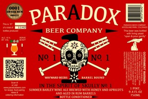 Paradox Beer Company Inc In The Spirit Of Skully Barrel No. 1