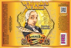 Henniker Brewing Company Whipple's Wheat