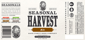 Back Forty Beer Company Seasonal Harvest Ale