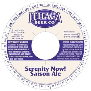 Ithaca Beer Company Serenity Now