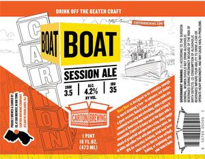 Carton Brewing Company Boat