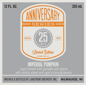 Lakefront Brewery Imperial Pumpkin