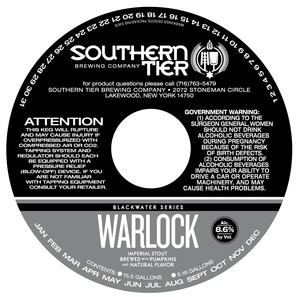 Southern Tier Brewing Company Warlock